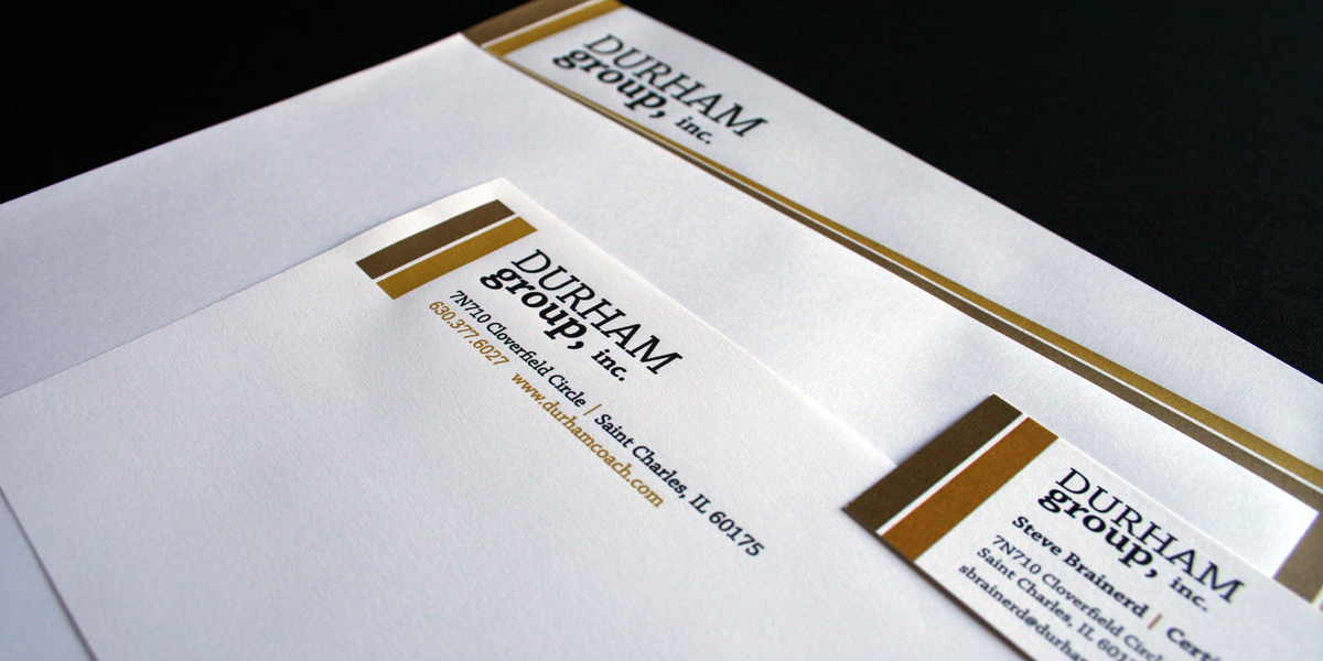 Branded Stationery for Durham Group