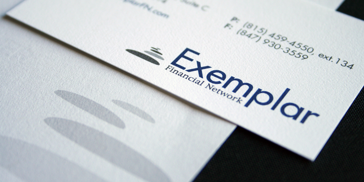 Stationery for Exemplar Finiancial Network