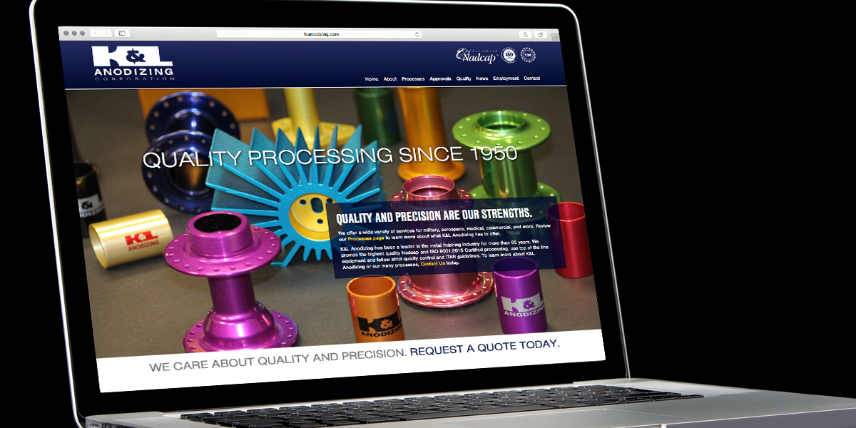 Responsive website for K&L Anodizing