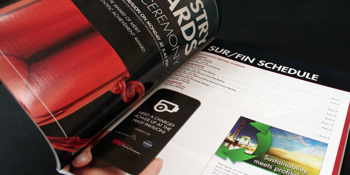 Interior pages of the SUR-FIN 2015 show directory